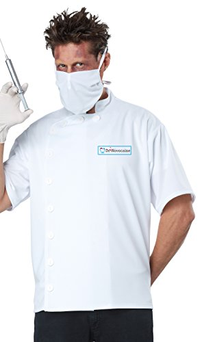 Scary Dentist Halloween Costume (California Costumes Men's Dr. Novocaine Costume, White,)