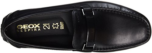 Geox U Moner W 2Fit, Mocassini Uomo nero