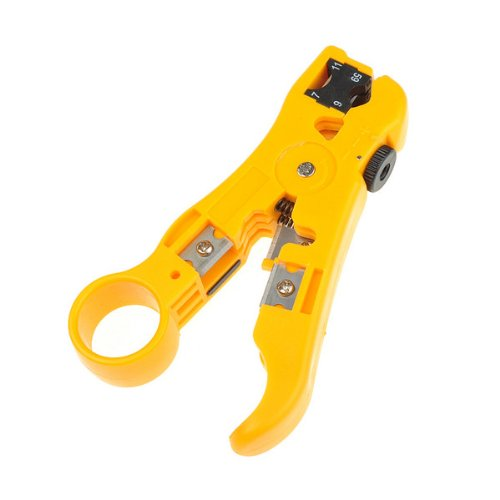 (Findway Coaxial Cable Stripper Coax Stripping Hand Tool for RG59/6/7/11 CAT 5E CAT 6)
