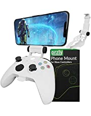 Xbox Series X Controller Mobile Gaming Clip, Xbox Controller Phone Mount Adjustable Phone Holder Clamp Compatible with Xbox Series X S, Xbox One, Xbox One S, Xbox One X-Robot White