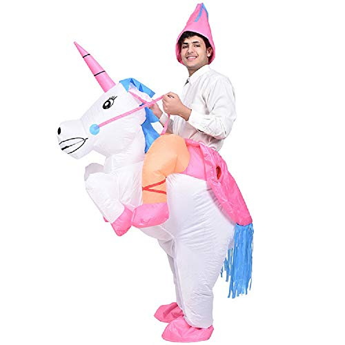 Men's Fantasy Halloween Costumes (MH Zone Halloween Costumes for Men Inflatable Unicorn Costumes Cosplay Fantasy Costume (Adult)