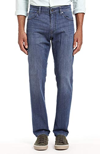 34 Heritage Men's Charisma Relaxed Classic Denim, Mid Kona 33 x 32