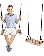 Wooden Swing ,arc Shaped Waterproof Swing,Swing seat Wooden ,Garden, Yard, Indoor , Outdoor Wooden Swing Set for Children Adult Kids