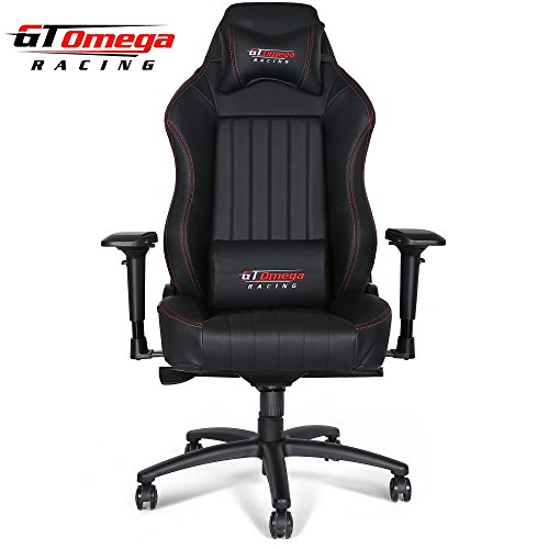GT Omega EVO XL Racing Office Chair Black Leather Esport Gaming seat