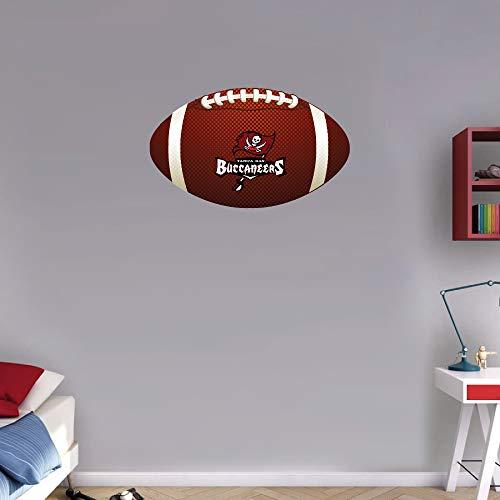 Sport Tampa Bay Buccaneers NFL Logo Ball Art Wall Decor Sticker 12'' X 7'' ()