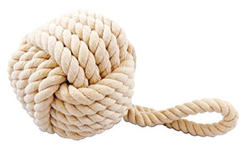 Monkey Rope Fist - Barry Owen Co. Inc. White Rope Monkey Fist Knot Hanging Decor