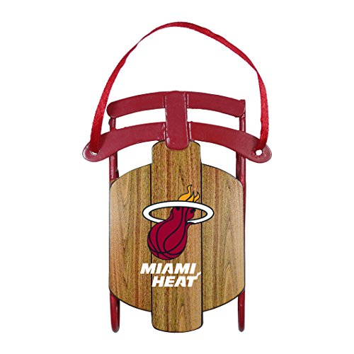 NBA Miami Heat Metal Sled Ornament -