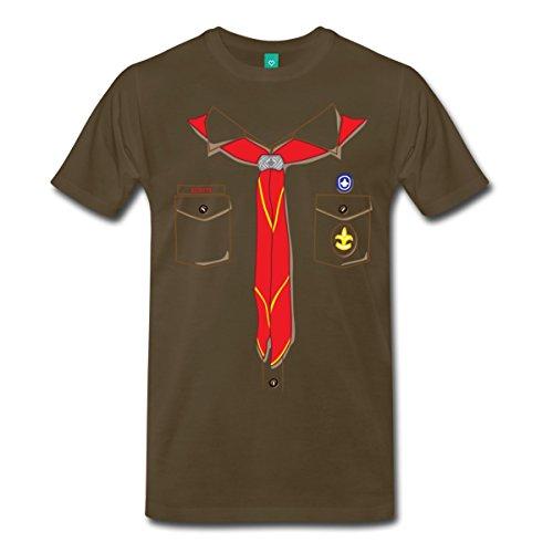 Scout Uniform Costume Men's Premium T-Shirt by Spreadshirt, S, noble brown