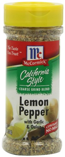 McCormick California Style (Coarse Grind) Lemon Pepper with Garlic & Onion 4.87oz Bottle (Pack of 3)