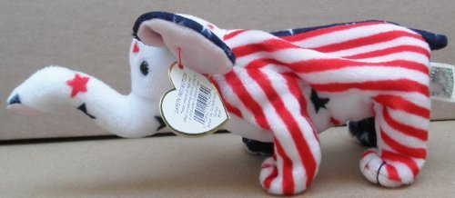 TY Beanie Babies Righty the Patriotic Elephant Plush Toy Stuffed Animal by G35832784