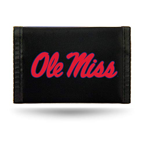 - Rico Industries NCAA Mississippi Ole Miss Rebels Nylon Trifold Wallet