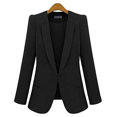 RS Womens Casual Basic Work Office Cardigan Tuxedo Blazer Boyfriend Jacket