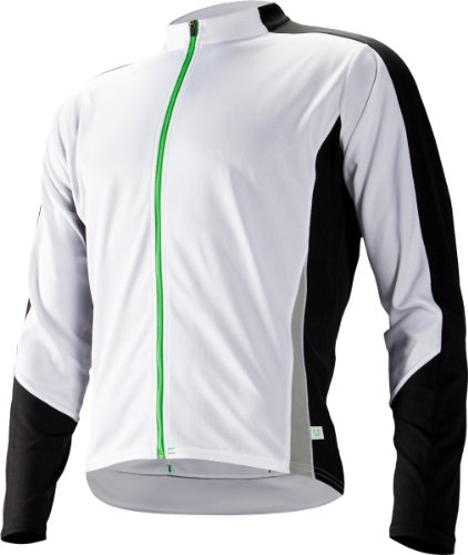 Cannondale Men's Domestique Long Sleeve Jersey, White, Medium