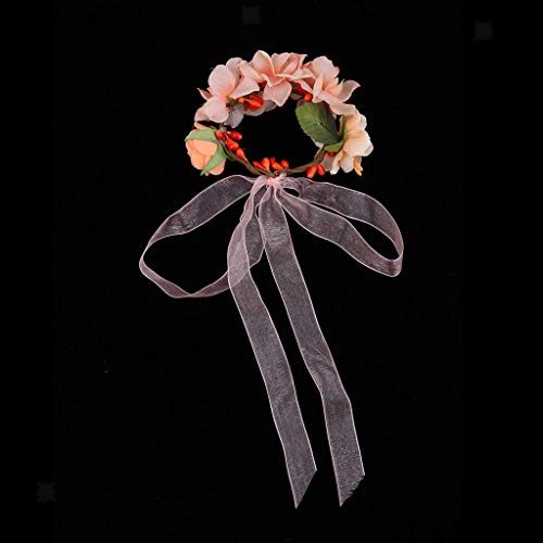 Bohemian Flower Crown Wedding Party Garland Forehead Hair Head Band Wreath]()