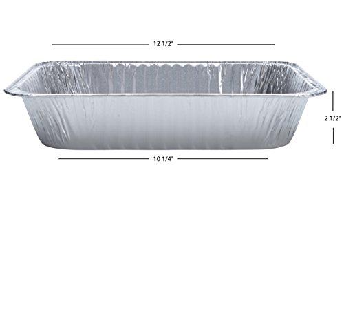 DOBI Aluminum Pans (30-Pack) - Disposable Aluminum Foil Steam Table Deep Pans, Half Size Chafing Pans - 12 1/2'' x 10 1/4'' x 2 1/2'' by DOBI (Image #2)