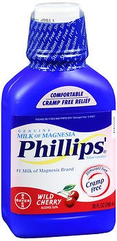 Phillips' Milk of Magnesia Wild Cherry - 26 oz, Pack of 2