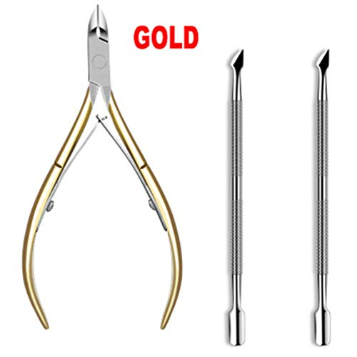 (Mydio Cuticle Nipper, Professional Cuticle Nipper Scissors, Stainless Steel Cuticle Cutter Clipper Dead Skin Remover,Trimmer Cuticle Clippers Tools with Double Spring - Durable Nail Art Manicure Tool)