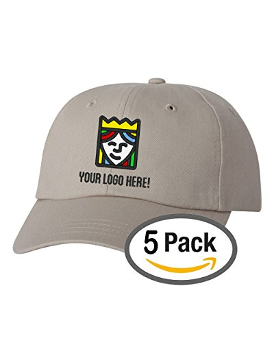 ​Custom Embroidered Sportsman Cotton Baseball Hat - Free Logo Setup - Pack of 5​