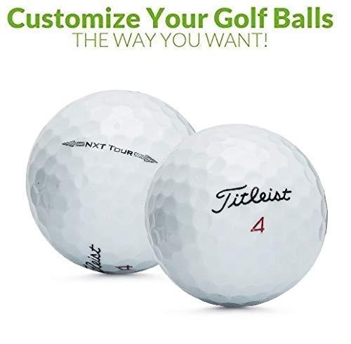 Personalized 1 Dozen Custom Logo NXT Tour Golf Balls + Free Tees