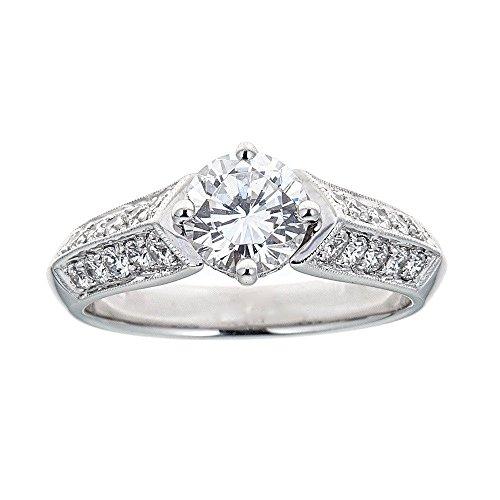 (D'amati Fine Jewelry Simon G. 18K White Gold & Diamond Engagement Ring)