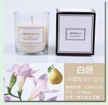 - Scented Candles Glass Candle Aromatherapy Candle Romantic Smoke Free Hotel Candle Soy Wax Beautiful Gift