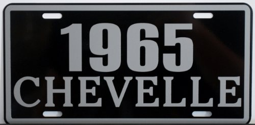 Motown Automotive Design 1965 65 Chevelle Metal License Plate SS Super Sport 327 350 396 454 FITS Chevy TAG 6 X 12 HOT Rod Muscle CAR Classic Museum Collection Novelty Gift Sign