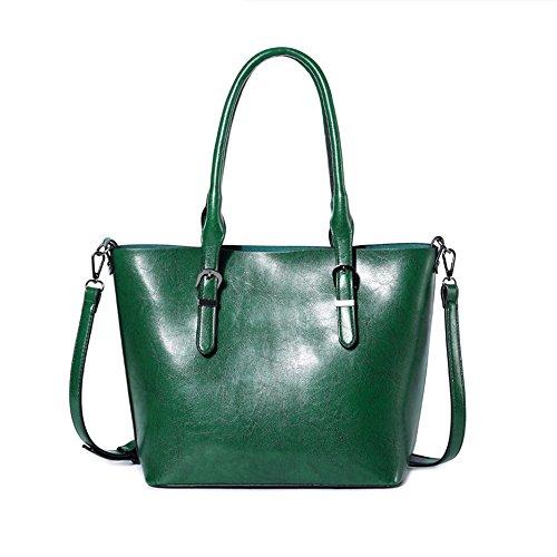 Ywx Verde Bolso Hombro Aceite Bandolera Del color La Impermeable Verde Portátil Capacidad Manera Gran Mujer Superficie De ZZFqwdr