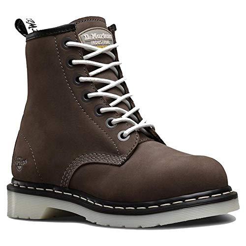Dr. Martens - Women's Maple Steel Toe Light Industry Boots, Grey, 8 M US