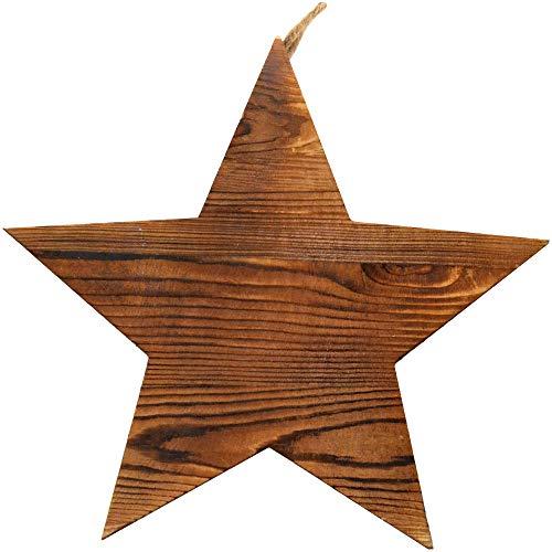 - Lara's Crafts Decorative Chunky Star Shape - Barnwood Finish