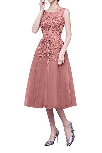 A Partykleider mia Jugendweihe Abschlussballkleider Tanzenkleider Abendkleider Rosa La 2 Kleider Brau Kurz Knielang Cocktailkleider Linie Dunkel qptRYw