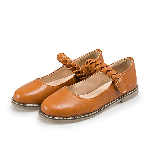 Mfairy Womans Fashion Primavera / Estate Casual Carino Mary Jane Scarpe Gialle