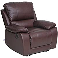 Top Grain Leather Recliner Chair Classic And Traditional Style With Overstuff Armrest And Headrest