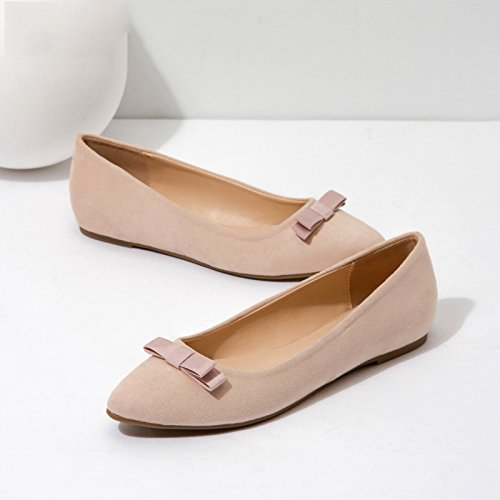 Sandali 34 alti donna single piatte donna punta da primaverili a Rosa scarpe DHG FdqRd6