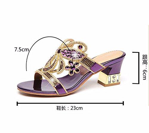 Heel Khskx Wear Slippers Train Middle Purple Cool Fashion Slippers Water Rude pr1xSp