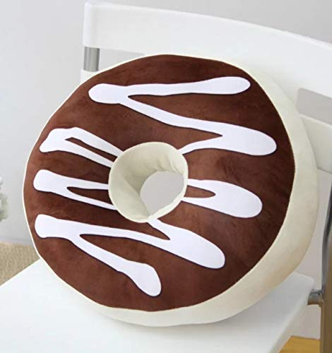 ChezMax Round Doughnut Donut Seat Back Stuffed Cushion Insert Filler Filling Throw Pillow Plush Play Toy Doll for Sofa Chair Living Dinning Family Room Coffee 16 X 16''