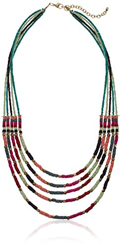 Panacea Green And Multi Colored Stone Beaded Strand Necklace, 24