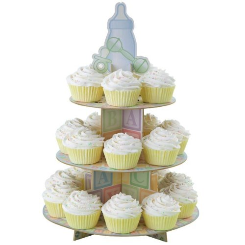 Treat Stand-Baby Feet 12X17.5 Holds 24 Cupcakes