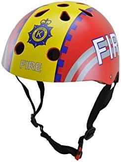 Kiddimoto Feuerwehr M Casco para niños, Infantil, Multicolor, 53 ...