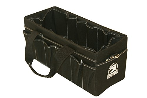 Gatorback Large Open-Top Tool Carrier w/ 35 Pockets. Made by Contractor Pro for Electricians, Carpenters, HVAC,