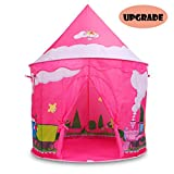 Eggsnow Kids Tents Indoor, Girl Castle Tent Pop Up Tent for Kids Indoor with Carrying Bags-Pink