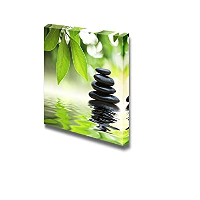 Marvelous Piece of Art, Professional Creation, Zen Basalt Stones in a Pond Wall Decor