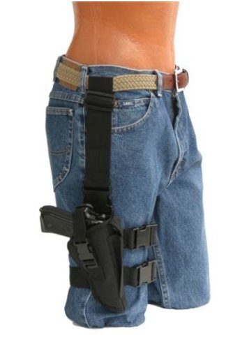 Pro-Tech Outdoors Tactical Thigh Holster for Colt, Springfield, Sig Sauer, Taurus, Walther, Ruger, Beretta, Glock Medium and Larg Frame Auto with 3 1/2 to 4 1/4 Barrels.