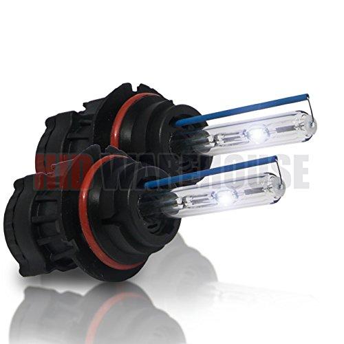 HID-Warehouse HID Xenon Replacement Bulbs - Bi-Xenon 9007 8000K - Medium Blue (1 Pair) - 2 Year Warranty (Headlights 9007 Xenon 55w)