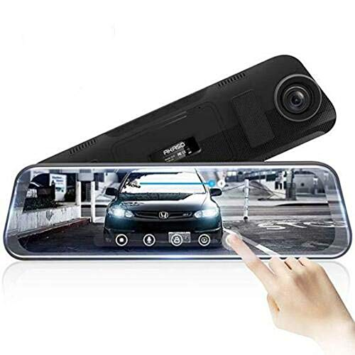 (Dragon Honor Latest Full-Screen LCD Rearview Mirror, Front and Rear Car Recorder_ New 2019 (Single)