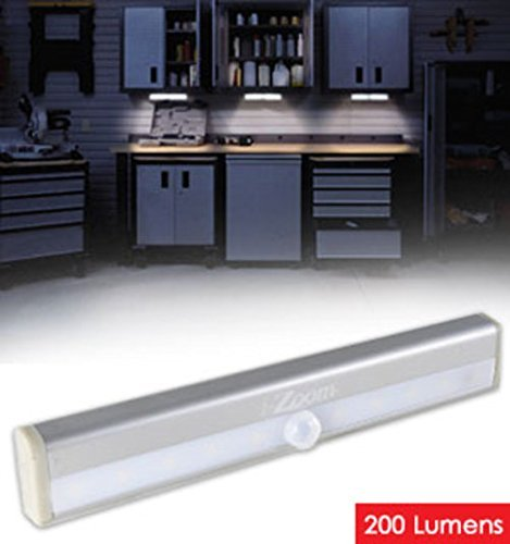 Wireless LED Light Bar - Motion And Light Activated For Auto/On And Off, 200 Lumens, Easy Peel Adhesive Strip Or, Super Strong Magnetic Strip, Great For Under Kitchen Cabinet And Much More by iZOOM