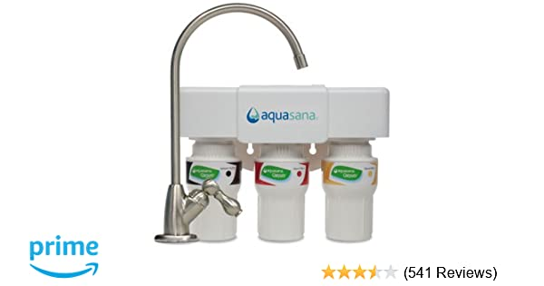 Aquasana 3-Stage Under Counter Water Filter System with