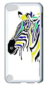 Brian114 Case, iPod Touch 5 Case, iPod Touch 5th Case Cover, Cute Animals Zebra 16 Retro Protective Hard PC Back Case for iPod Touch 5 ( white )