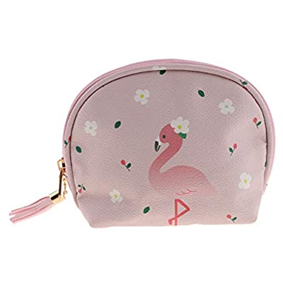 Cute Mini Leather Coin Purse Cartoon Change Bag Wallet for Women Girls (Color - Light Pink)