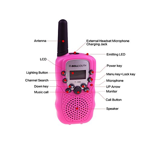 BELLSOUTH T388 2 Piece T-388 3-5KM 22 FRS and GMRS UHF Radio for Child Walkie-Talkie by BellSouth (Image #6)