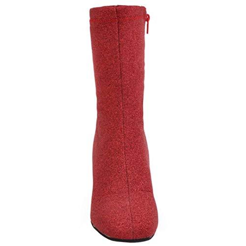 Red Red Women's Classic Boot AIYOUMEI Boot Classic Women's AIYOUMEI xf8wW
